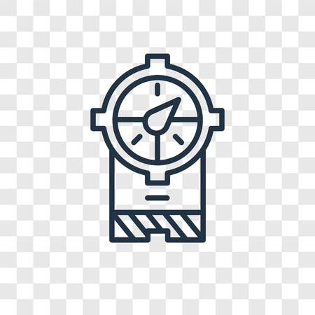 Meter vector icon isolated on transparent background, Meter logo concept Illustration