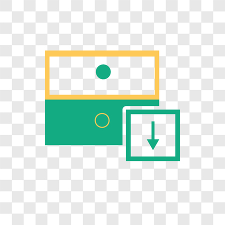 Archive vector icon isolated on transparent background, Archive logo concept  イラスト・ベクター素材