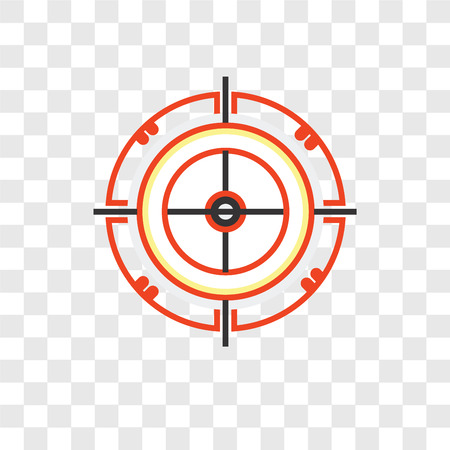 Dart board vector icon isolated on transparent background, Dart board logo concept Иллюстрация