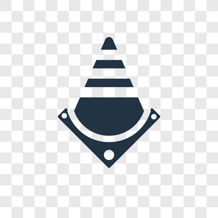 Traffic cones vector icon isolated on transparent background, Traffic cones logo concept