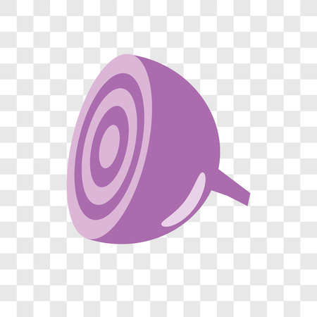 Onion vector icon isolated on transparent background, Onion logo concept Illustration