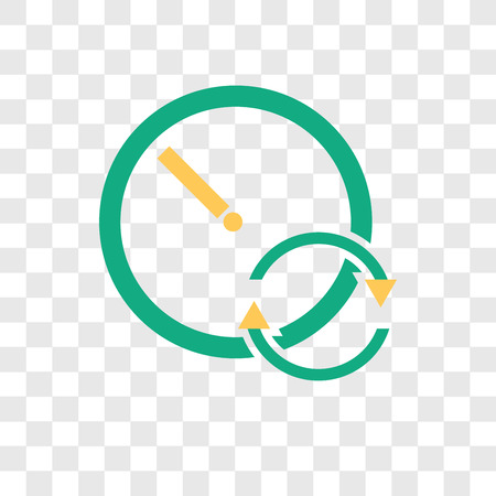 Stopwatch vector icon isolated on transparent background, Stopwatch logo concept Vettoriali
