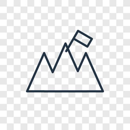 Icône de vecteur d'objectifs isolé sur fond transparent, concept logo objectifs