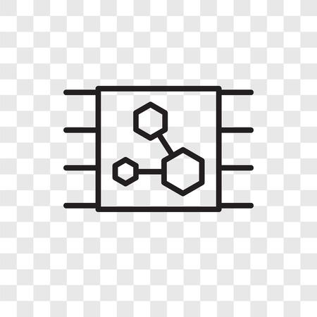 Icône de vecteur de Microchip isolé sur fond transparent, concept logo Microchip Logo