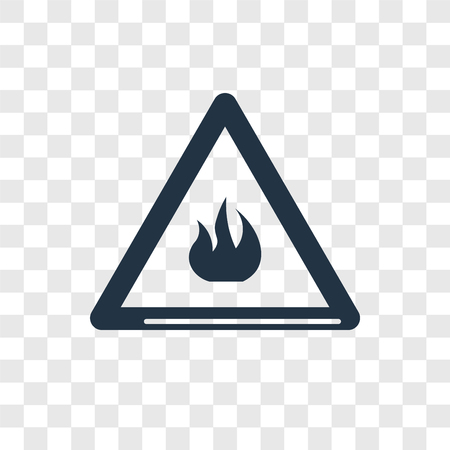 Warning vector icon isolated on transparent background, Warning logo concept Illustration