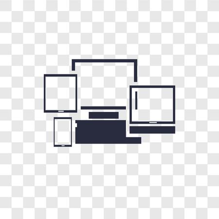 Icône de vecteur réactif isolé sur fond transparent, concept de logo réactif Logo
