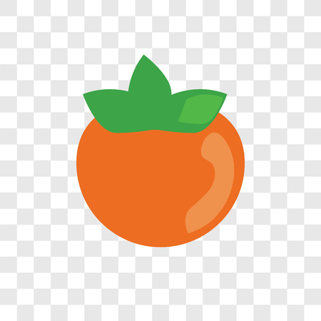 Persimmon vector icon isolated on transparent background, Persimmon logo concept Stock Illustratie