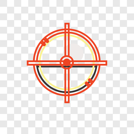 Circular target vector icon isolated on transparent background, Circular target logo concept Illustration