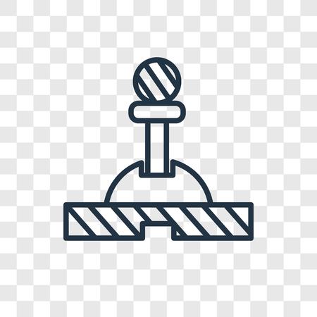 Hefboom vector pictogram geïsoleerd op transparante achtergrond, hendel logo concept