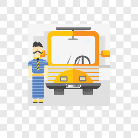 Driver vector icon isolated on transparent background, Driver logo concept Ilustracja