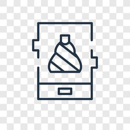 Phone vector icon isolated on transparent background, Phone logo concept Çizim