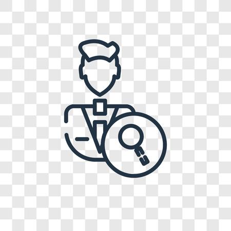 Icône de vecteur d'examen isolé sur fond transparent, concept logo examen