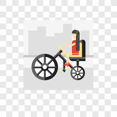 Bicycle vector icon isolated on transparent background, Bicycle logo concept  イラスト・ベクター素材