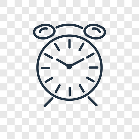 Icône de vecteur de chronométrage isolé sur fond transparent, concept de logo de chronométrage