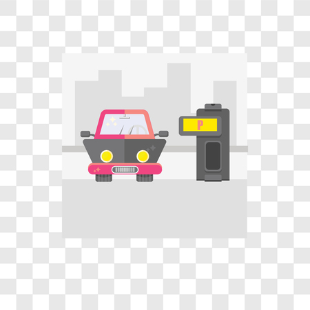 Parking vector icon isolated on transparent background, Parking logo concept Illustration