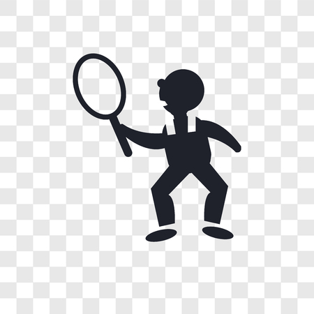 Tennis player vector icon isolated on transparent background, Tennis player logo concept