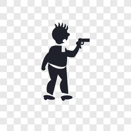 Criminal heist vector icon isolated on transparent background, Criminal heist logo concept
