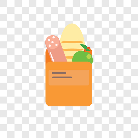 Groceries vector icon isolated on transparent background, Groceries logo concept