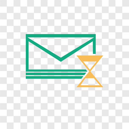 Mail vector icon isolated on transparent background, Mail logo concept Çizim