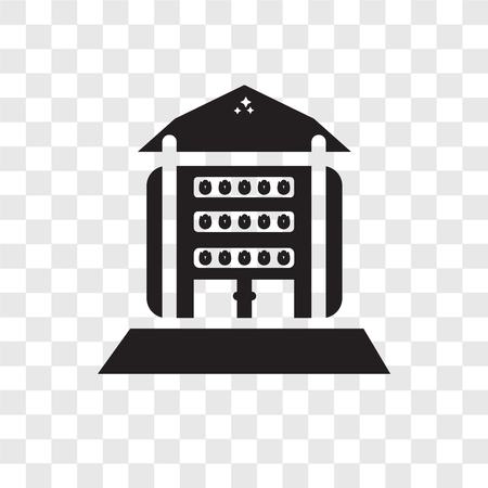 house vector icon isolated on transparent background, house logo concept Ilustração