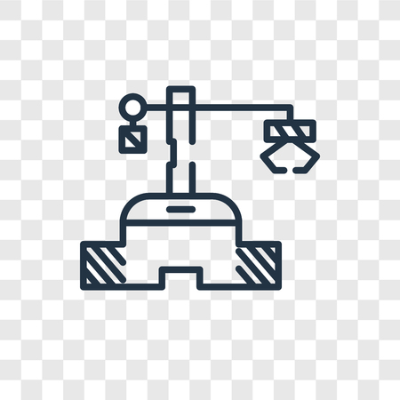 Robot vector icon isolated on transparent background, Robot logo concept