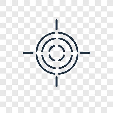 Icône de vecteur cible isolé sur fond transparent, concept logo cible