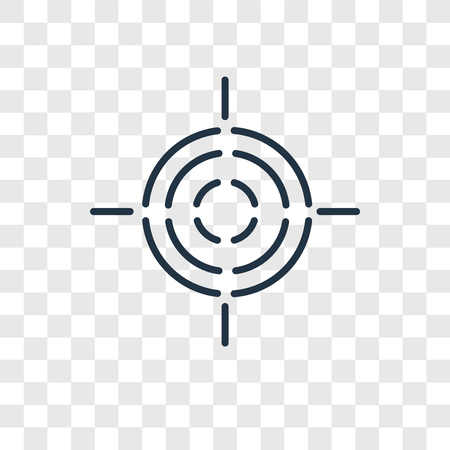 Icono de vector de destino aislado sobre fondo transparente, concepto de logo de destino