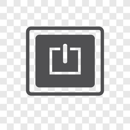 Power vector icon isolated on transparent background, Power logo concept