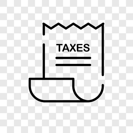 Tax vector icon isolated on transparent background, Tax logo concept
