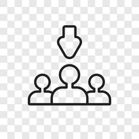 Icône de vecteur de processus de sélection isolé sur fond transparent, concept de logo de processus de sélection Logo