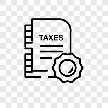 Taxes vector icon isolated on transparent background, Taxes logo concept Standard-Bild - 107297017