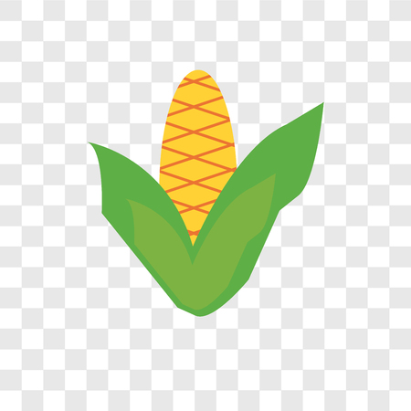 Corncob vector icon isolated on transparent background, Corncob logo concept  イラスト・ベクター素材