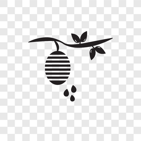 Beehive vector icon isolated on transparent background, Beehive logo concept