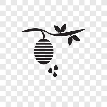 Icône de vecteur de ruche isolé sur fond transparent, concept logo Beehive Logo