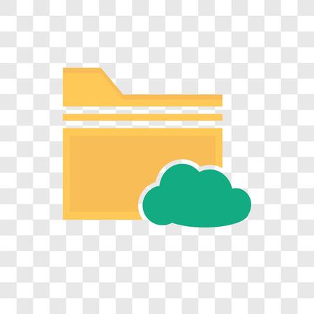 Icône de vecteur de dossier isolé sur fond transparent, concept logo dossier Logo