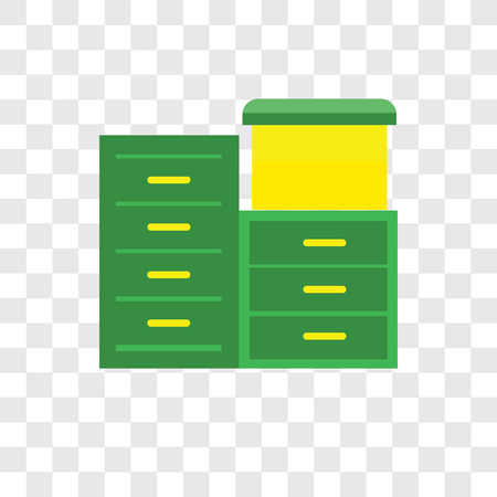 Archive vector icon isolated on transparent background, Archive logo concept Stock Illustratie