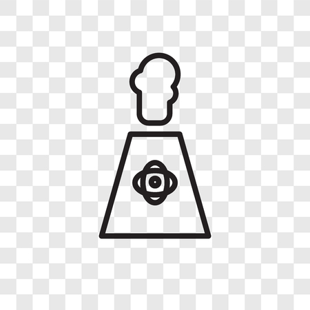 Nuclear plant vector icon isolated on transparent background, Nuclear plant logo concept Illustration