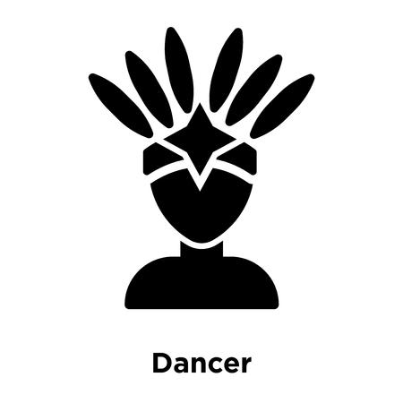 Dancer icon vector isolated on white background, logo concept of Dancer sign on transparent background, filled black symbol
