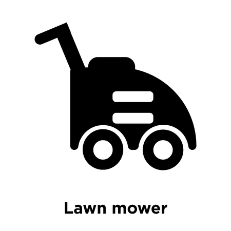 Lawn mower icon vector isolated on white background, logo concept of Lawn mower sign on transparent background, filled black symbol