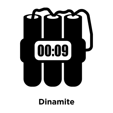 Dinamite icon vector isolated on white background, logo concept of Dinamite sign on transparent background, filled black symbol Illustration