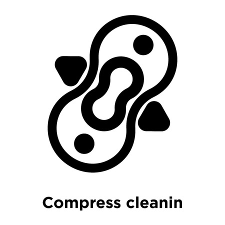 Compress cleanin icon vector isolated on white background, logo concept of Compress cleanin sign on transparent background, filled black symbol Illustration