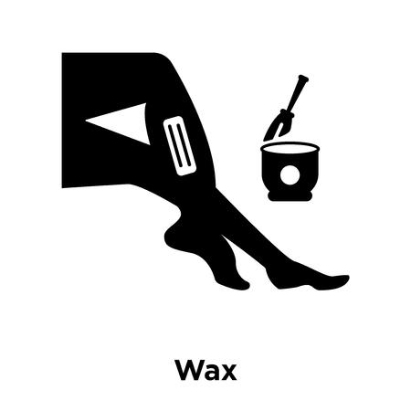 Vector icono de cera aislado sobre fondo blanco, logo conceptode signo de cera sobre fondo transparente, símbolo negro relleno Logos