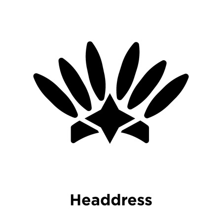 Headdress icon vector isolated on white background, logo concept of Headdress sign on transparent background, filled black symbol