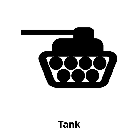 Tank icon vector isolated on white background, logo concept of Tank sign on transparent background, filled black symbol