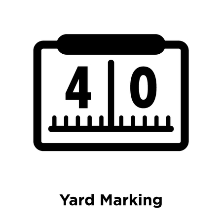 Yard Marking icon vector isolated on white background, logo concept of Yard Marking sign on transparent background, filled black symbol