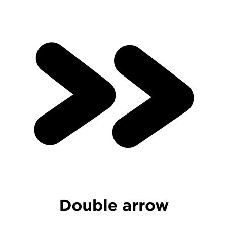 Double arrow icon vector isolated on white background, logo concept of Double arrow sign on transparent background, filled black symbol