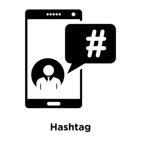 Hashtag icon vector isolated on white background, logo concept of Hashtag sign on transparent background, filled black symbol