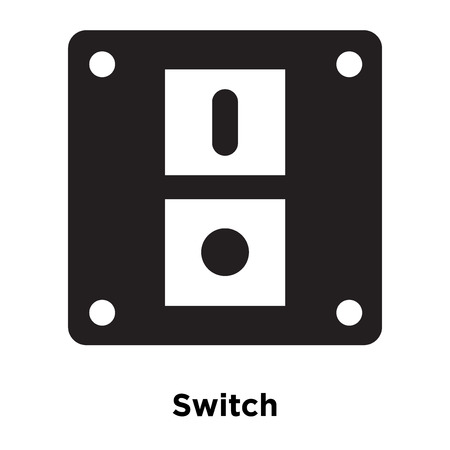 Switch icon vector isolated on white background, logo concept of Switch sign on transparent background, filled black symbol
