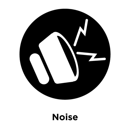 Noise icon vector isolated on white background, logo concept of Noise sign on transparent background, filled black symbol Illustration