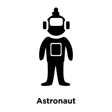 Astronaut icon vector isolated on white background, logo concept of Astronaut sign on transparent background, filled black symbol Vectores